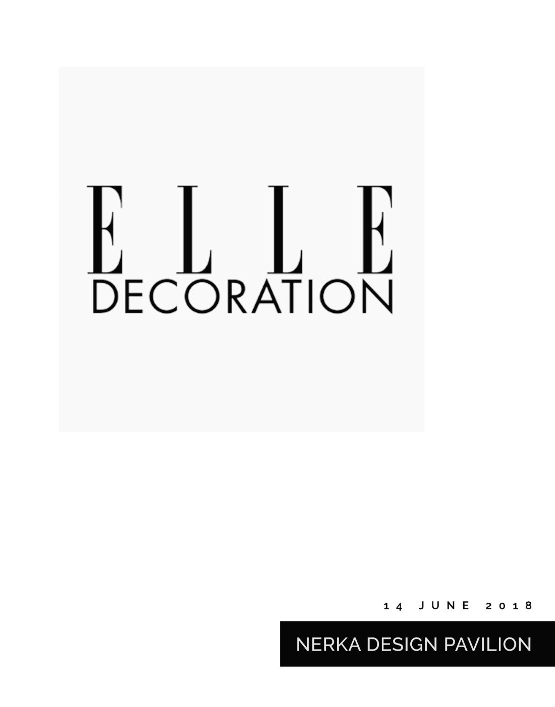 Elle Decoration Russia Magazine